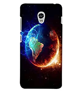 ColourCraft Fire and Ice Galaxy Design Back Case Cover for LENOVO VIBE P1