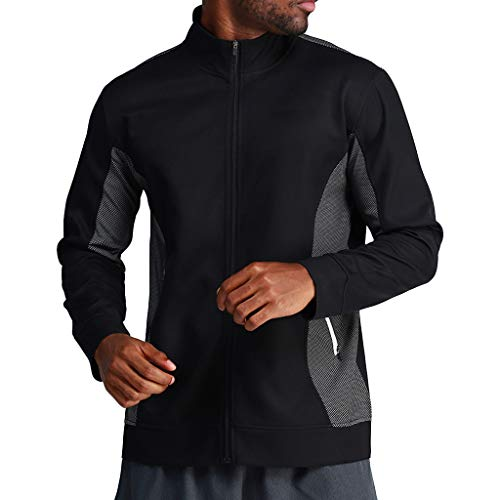 e819ad699013 Mens Casual Zipper Patchwork Standing Lead Running Outdoor Training Fitness  Coat by LuckyGirls