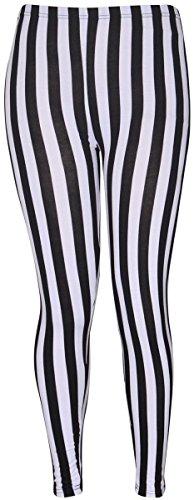 Nouveaux Femmes Grande Taille pleine longueur cheville imprimés stretch pantalon de guêtres collant long 40-54 Stripe