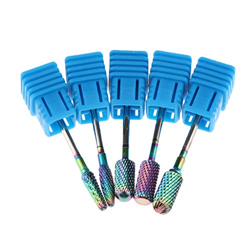 B Baosity Professionelle 5 Satz Hartmetall Schleifwerkzeuge Bits, Schleifstift Nagelfräser Aufsatz Nagel Schleifwerkzeuge - Gradient