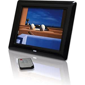 Rollei Memories 800 digitaler Bilderrahmen (20,32cm (8 Zoll) TFT-LCD Display, Diashow, 15 mm flach, Fernbedienung) schwarz