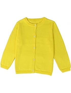 hibote Suéter de la rebeca de las muchachas Jersey suéter de la muchacha de la escuela del knit