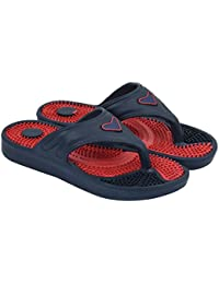 JPS TRADERS Black & Red Slip On Slippers For Men/Boys