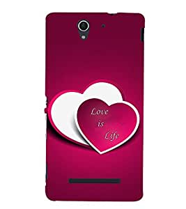 Love is Life 3D Hard Polycarbonate Designer Back Case Cover for Sony Xperia C3 Dual :: Sony Xperia C3 Dual D2502