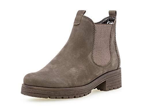 Gabor Damen Stiefelette 32.091, Frauen Chelsea Boots,Stiefel,Halbstiefel,Bootie,Schlupfstiefel,flach,anthrazit (Micro),39 EU / 6 UK