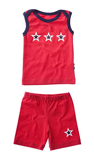 Claesen's Baby Boys' Clothing Set (CL14013/CL14366_Red_3-6 M)