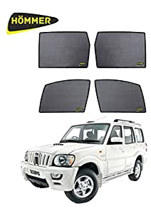 HOMMER Never Fall UV Car Sun Shades for Mahindra Scorpio Old