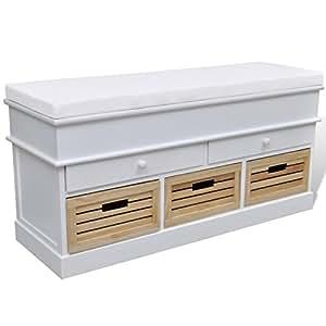 banquette banc coffre de rangement avec coussin 3002007 cuisine maison. Black Bedroom Furniture Sets. Home Design Ideas