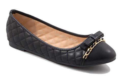 Roi Des Chaussures - Ballerine Donna Schwarz 2152