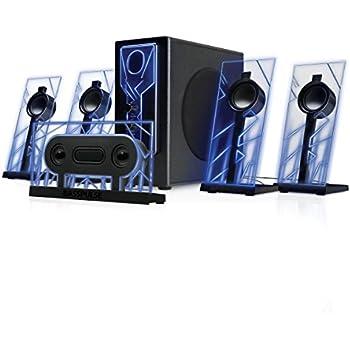 enceintes pc gaming haut parleurs 5 1 st r o speaker. Black Bedroom Furniture Sets. Home Design Ideas