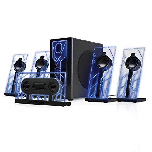GOgroove Altavoces Gaming 5.1 Sistema Audio Speakers para PC Set de Altavoces...