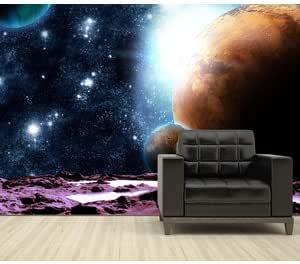 Nappes Papier Peint Poster Papier Peint de science-fiction l/'espace Planète Terre