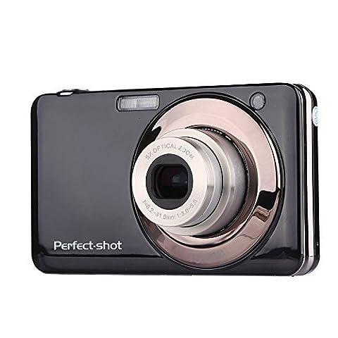 PYRUS 2.7 Zoll TFT 5X optischer Zoom 15MP 1280 X 720 HD Anti-Shake Smile Capture Digital Videokamera (schwarz)