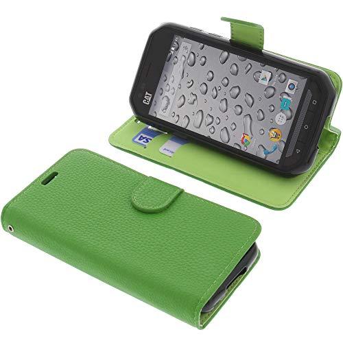 foto-kontor Tasche für CAT S30 Book Style grün Schutz Hülle Buch