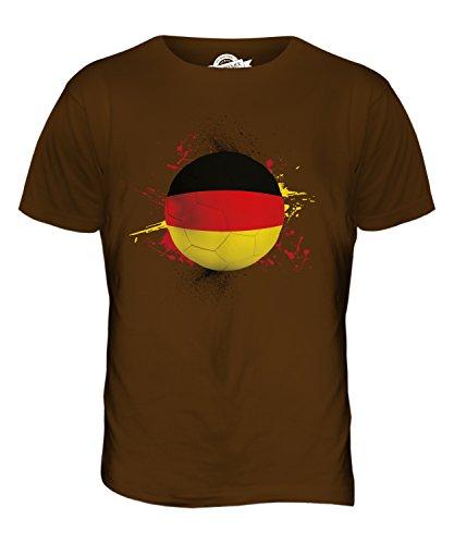 CandyMix Deutschland Fußball Herren T Shirt Braun