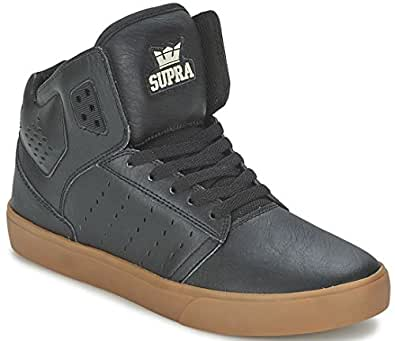 Supra Atom Black Gum Mens Leather Skate Trainers Shoes Boots-8
