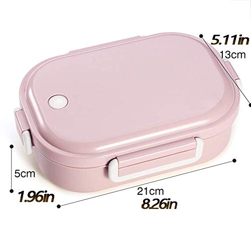 Sntsya Lunchbox/Bento Box Container Lunchbox Unterwegs, Camping Edelstahl Container Kinder, Studenten,Pink