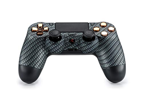 King Controller PS4 Controller mit Custom Design (carbon, chrom) - DualShock 4 - PlayStation 4 Pro Slim - Wireless PS4-Controller - Custom-ps4-controller