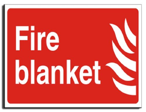 Fire Safety Sign - Fire Blanket Fire Sign - Adhesive Vinyl - 250x200mm(FI-059-AE)
