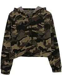 84b43f890c Amazon.it: Felpa Verde Militare - Donna: Abbigliamento