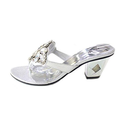 Wear & Walk UK Damen Sandalen Mehrfarbig Silber SfNPxJ593