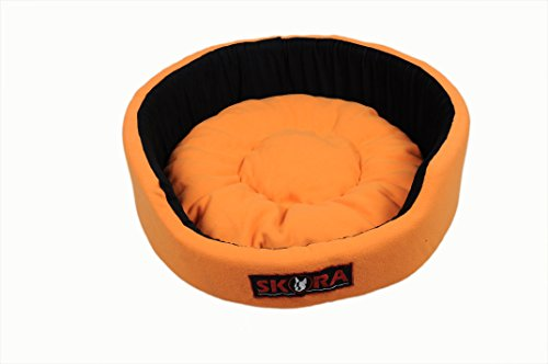 Skora Imported High Quality Round Shape Pet Bed for Dog (Small |Medium |Large)|Blue and Orange Color