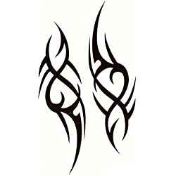 EROSPA® Tattoo-Bogen / Sticker temporär - Tribal Design - 19 x 12 cm