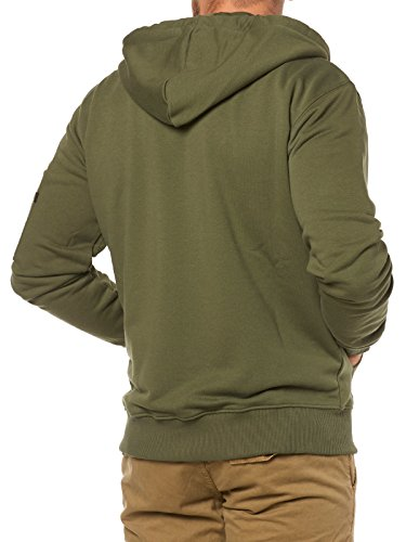 Alpha Industries Zip Hoody X-Fit Verde scuro