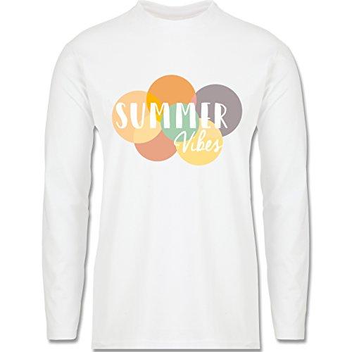 Statement Shirts - Summer Vibes - Longsleeve / langärmeliges T-Shirt für Herren Weiß