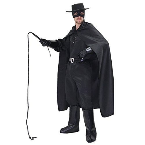 Vestito costume maschera di carnevale adulti - zorro - taglia xl - 52/54 uomo