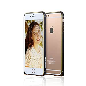 Best iPhone 6 / 6s Plus Aluminum Bumper Case (Black), Aluminum Buttons with Corner Locking Clasp, Protection or Your Money Back! Free Bonus Tempered Glass & More, Protect & Defend By Armour Shell.