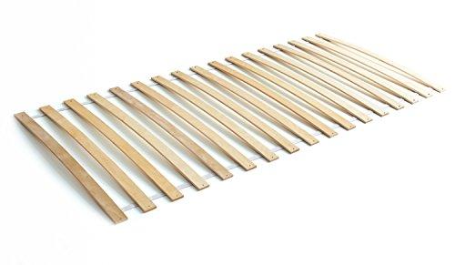 Ticaa Lattenrost Rollrost mit Federleisten Birke 90 x 200 cm
