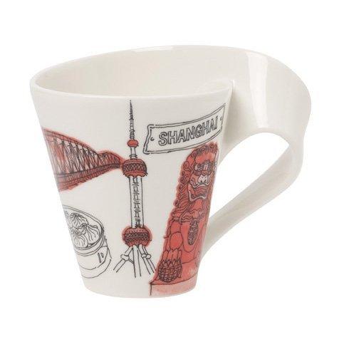 Villeroy & Boch Mug Motif Newwave Caffe Shanghai Porcelaine Blanc 0,35 l
