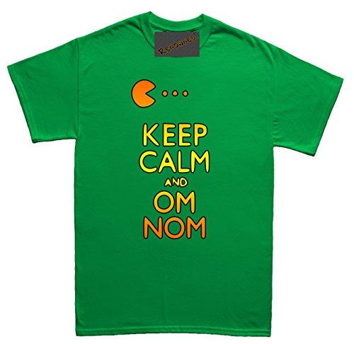 Renowned Keep calm and om nom Herren T Shirt Grün