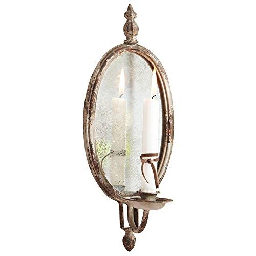 Loberon Kerzenhalter Eugene, Dekoration, Rahmen: Eisen, LxB ca. 37,5x14 cm, creme