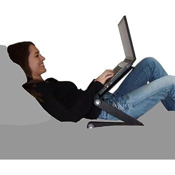 Stand laptop air supporto porta computer da letto divano e scrivania in alluminio con ventole - Tavolino porta pc da divano ...