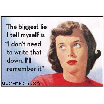 Magnet von Ephemera Inc.Mit Schriftzug: The biggest lie I tell myself is