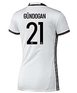 Adidas GUNDOGAN #21 Deutschland Frauen Heimtrikot EURO 2016 (US-Größe)