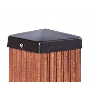 Pfostenkappe schwarz Pyramide für Pfosten inkl. VA-Schrauben (9x9 cm)