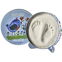 Baby Art Magic Box Scatola Tonda In Metallo Con Kit Impronta