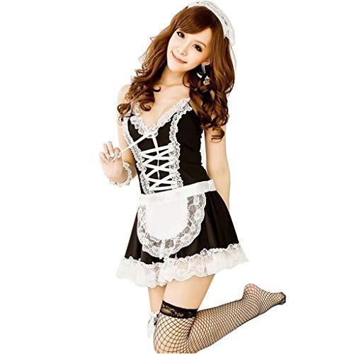 WSI Sexy Dessous Sexy Unterwäsche Lovely Female Maid Lace Sexy Minirock Lolita Maid Outfit Sexy Kostüm Sex Produkte Lace Rassig Damen Nachtwäsche Versuchung Unterwäsche