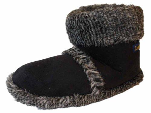Coolers Fun microsuede pantofole soffici caldo caviglia Snug bagagliaio Red