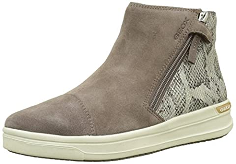 Geox J Aveup B, Baskets Hautes Fille, Beige, 36 EU