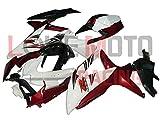 LoveMoto Verkleidung für GSX-R600 GSX-R750 K8 2008 2009 2010 08 09 10 GSXR 600 750 ABS Spritzguss Kunststoff-Motorradverkleidung-Sets Weiß Rot