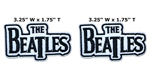 Outlander Outdoor Marke Anwendung The Beatles Band Musik Cosplay Badge gesticktes Eisen oder aufgesetzte Aufnäher Patch 2er Pack Geschenk-Set