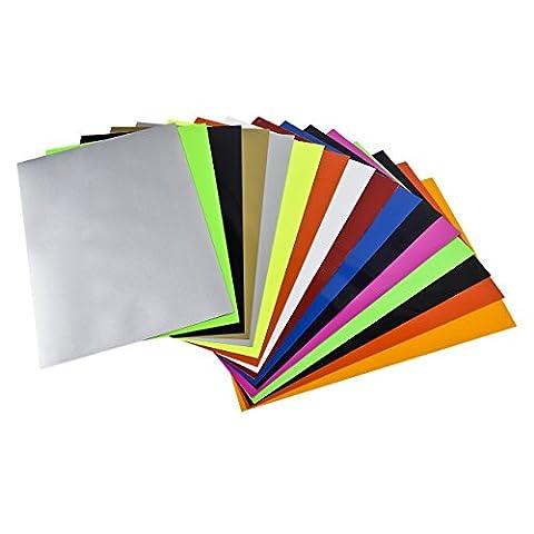 Newcomdigi Lot de 16 Papier de Transfert pour Tissu Papier