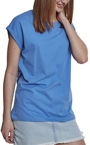 Urban Classics Damen T-Shirt Ladies Extended Shoulder Tee, Farbe horizonblue, Größe XXL
