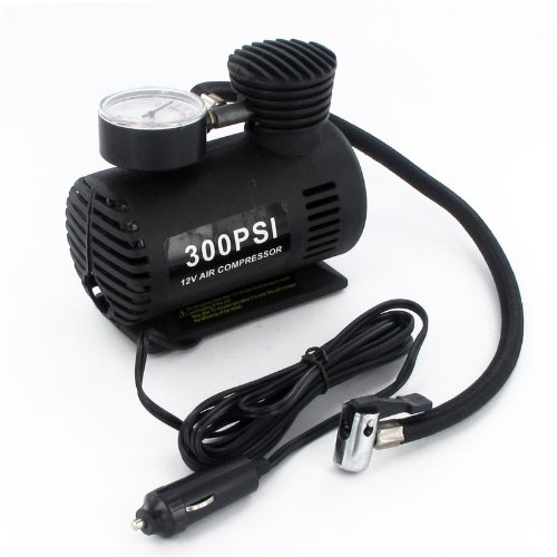 Tragbarer Mini Kompressor mit Druck, 300PSI Überprüfung Gauge