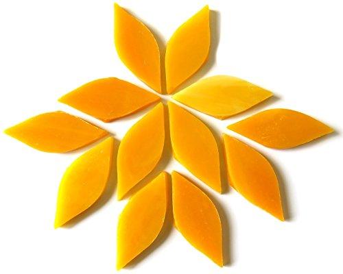 Craft Mosaik Fliesen-Kleine Blütenblätter-gebeizt Glas-Mango Nektar 50g