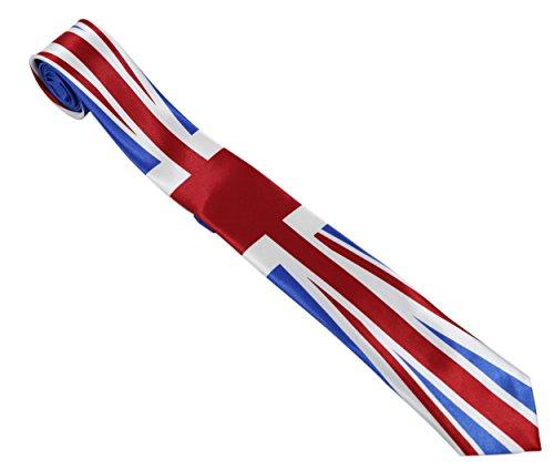 Komonee Union Jack Königsblau Unisex Krawatte (Ti48)